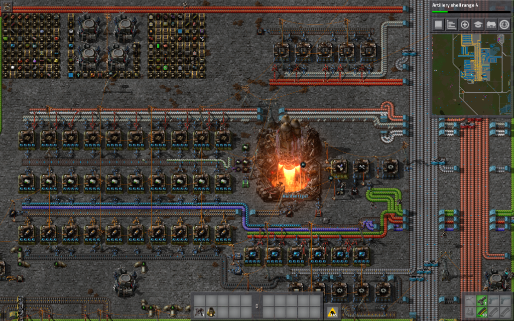 Factorio multiplayer with Raidentiger